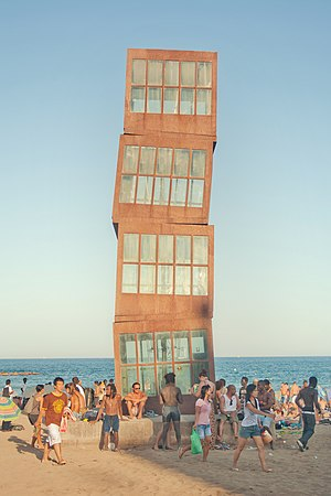 Rebecca Horn - Horn's sculpture L'Estel Ferit in Barcelona, Spain