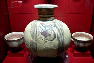 Cypriot wine - Oenochoe from Archaic period, 750–600 BC; Leventis Municipal Museum of Nicosia