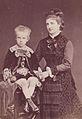 La regina Margherita col Principe di Napoli 1877.jpg