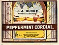 Label from a bottle of J. J. Burke's Peppermint Cordial (8734617240).jpg