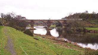 Kilmarnock and Troon Railway - Laigh Milton viaduct in 2006
