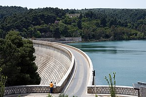 Water supply and sanitation in Greece - Lake Marathon is one of the drinking water sources for Athens