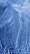 Radar satellite image of Lake Vostok by NASA