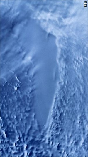 Lake Vostok - Radar satellite image of Lake Vostok