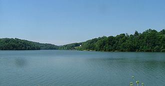 Lake Linville - View of Lake looking west