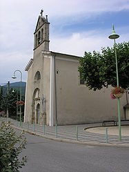 The church in Lalevade-d'Ardèche