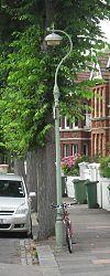 Lanterna kolono en 38 Park Terrace de reĝino, Brajtono (IoE Code 481112).jpg