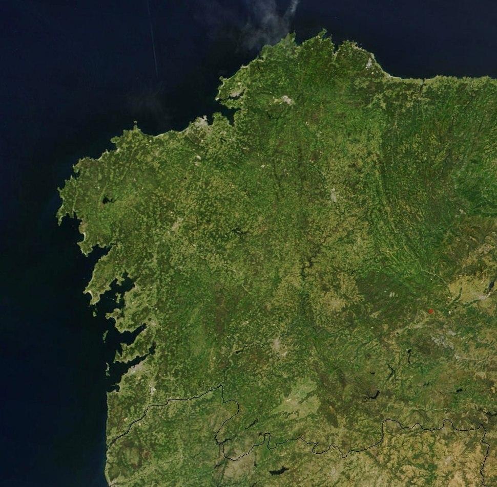 Land of Galicia, NASA satellite image