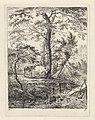 Landschap met twee koeien bij bomen en een beek Landschappen (serie A) (serietitel), RP-P-1938-1905.jpg