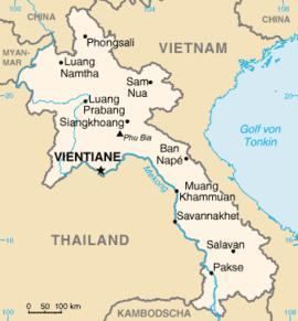 Laos Karte.Laos Boarische Wikipedia