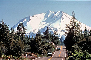 Volcanic Legacy Scenic Byway - Image: Lassen Peak From Volcanic Scenic Byway