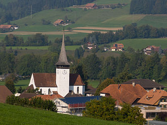 Lauperswil - Lauperswil village and church