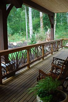 Px Laurel Handrail Timber Frame