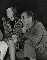 Lauren Bacall and Humphrey Bogart on set of The Big Sleep.jpg
