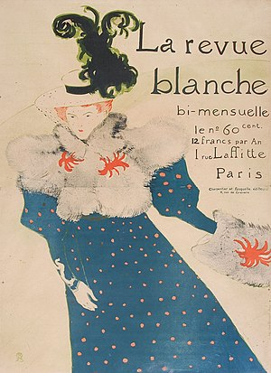 La Revue Blanche - Illustration by Toulouse-Lautrec for La Revue blanche (1895)