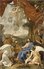 Le Christ au désert servi par les anges
