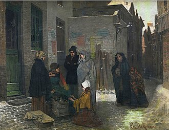 Charles de Groux - The coffee grinder