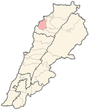 Koura District - Image: Lebanon districts Koura