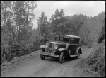 Lee's Royal Mail car on the Rotorua to Te Whaiti road, 1930 ATLIB 298276.png