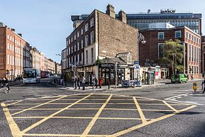Leeson Street - Image: Leeson Street junction Earlsfort Terrace and Stephens Green
