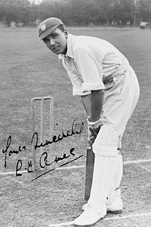 Les Ames Cricket player of England.