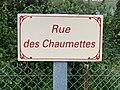 Les Hôpitaux (La Burbanche) , rue des Chaumettes (panneau).jpg