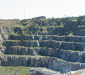 Geology of Jersey - Ronez Quarry, Saint John