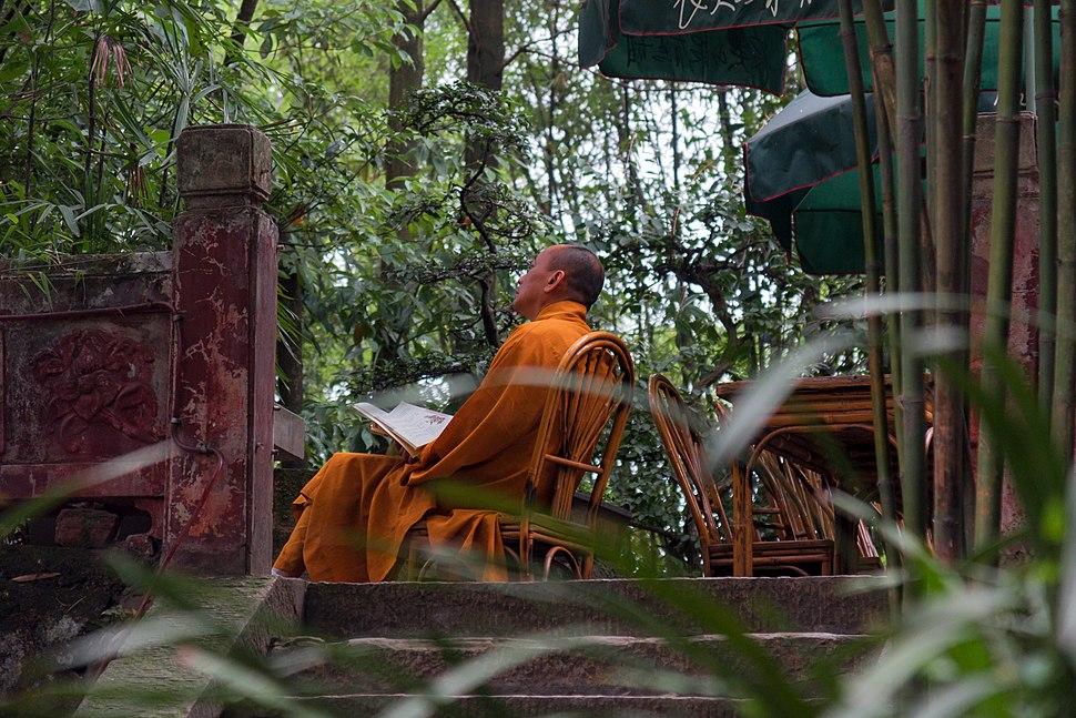 Leshan China Buddhist-Monk-01