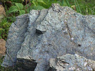 Lherzolite - Lherzolite at Etang de Lers, Ariège, France