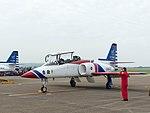 Li Jun-Ting, ROCAF Major, Pilot of Thundertigers AT-3 0842 Leaving Aircraft 20161126b.jpg