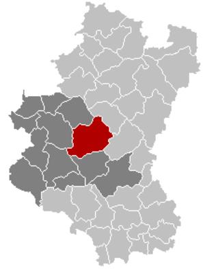 Libramont-Chevigny - Image: Libramont Chevigny Luxembourg Belgium Map