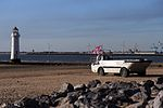 Lighthouse and amphibious truck, New Brighton (geograph 4548198).jpg