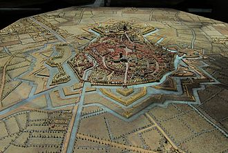 Bergues - Plan-relief of the citadel of Bergues
