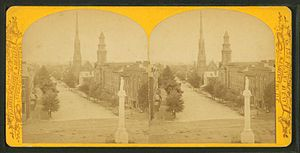 Abraham Lincoln (Flannery) - Image: Lincoln Monument, Metropolitan Church, from Robert N. Dennis collection of stereoscopic views