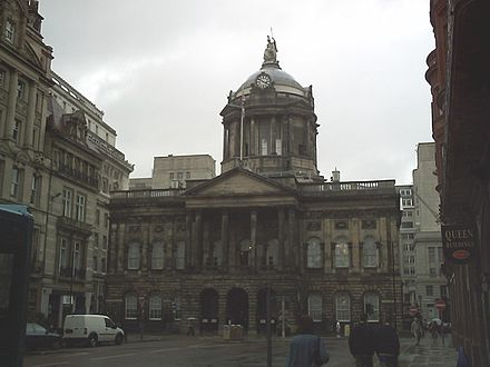Liverpool Town Hall (1749-54), with later dome and portico Liverpool Town Hall.JPG