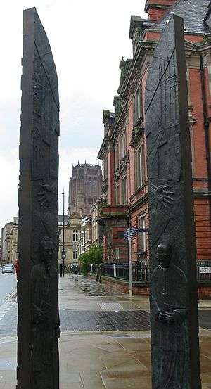 Sheppard-Worlock Statue - The Sheppard Worlock Statue, Bronze, c.2008, in Liverpool, England