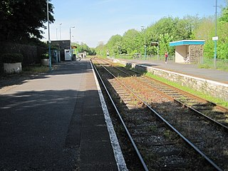 Llandeilo railway station Railway station in Carmarthenshire, Wales