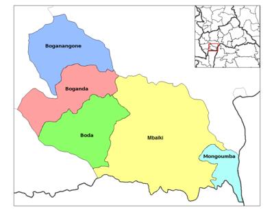 préfectures de la rca