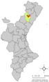 Localització d'Atzeneta del Maestrat respecte del País Valencià.png