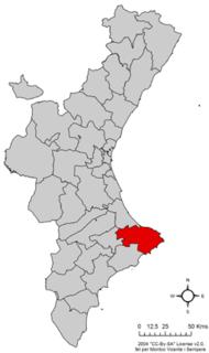 Marina Alta Comarca in Valencia, Spain