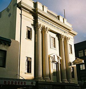 Former National Bank of New Zealand Building - Image: Logan Brown in Cuba Street crop