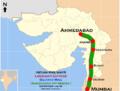 Lokshakti Express and Gujarat Mail (Mumbai - Ahmadabad) Route map.png