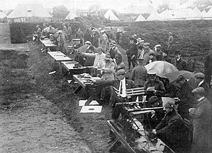 1908 Summer Olympics - Shooting at the 1908 Summer Olympics: the revolver and pistol competition at Bisley, Surrey