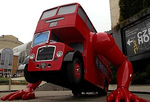 Czech Republic at the 2012 Summer Olympics - The London Booster, a moving sculpture outside Czech House