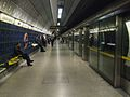 London Bridge tube stn Jubilee eastbound look west.JPG