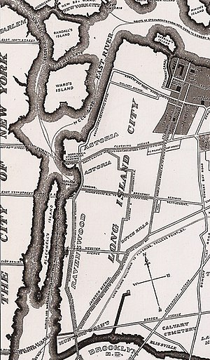 Detail of Long Island City map, 1896.