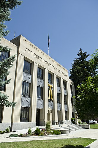 Gallatin County, Montana - Image: Looking ENE Gallatin County Courthouse Bozeman Montana 2013 070 09