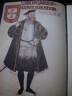 Lopo Soares de Albergaria - Image: Lopo Soares de Albergaria, in Livro de Lisuarte de Abreu