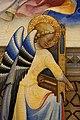 Lorenzo monaco, incoronazione della vergine e santi in adorazione, 1407-09, da s. benedetto fuori porta a pinti già a firenze 04 angelo con organetto portaile.jpg