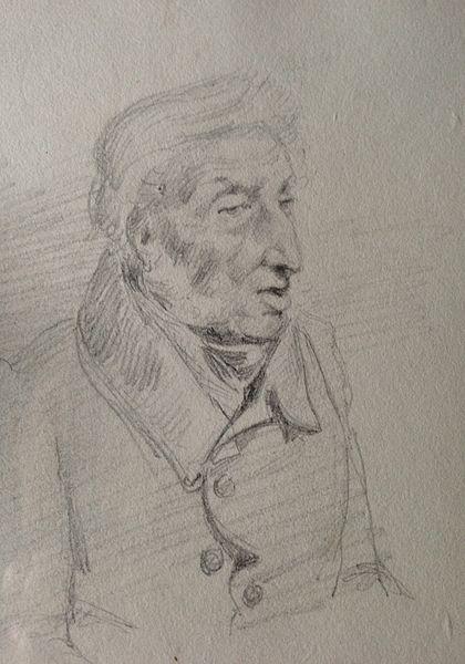 Crayon d'Olivier Bro de Comères (XIXème Siècle) Coll. Particulière